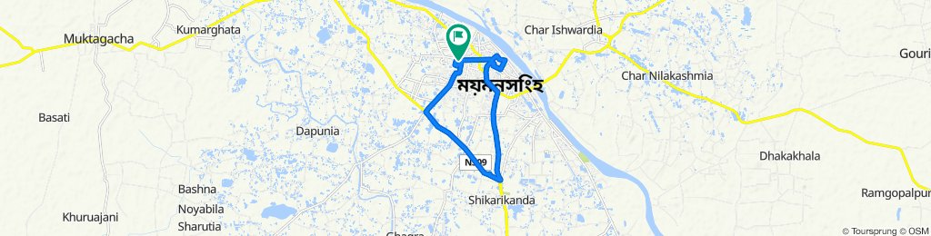 Cantonment Road 57, Mymensingh to Cantonment Road 57, Mymensingh