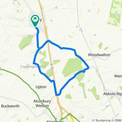 Rockingham Road 41, Sawtry to Rockingham Road 41, Sawtry
