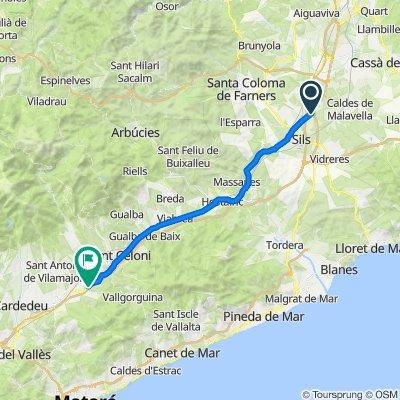 GI-555, Sils to C-35, Santa Maria de Palautordera