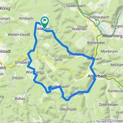 Vielbrunn - Amorbach - Breitenbuch - durch Würzberg - Vielbrunn