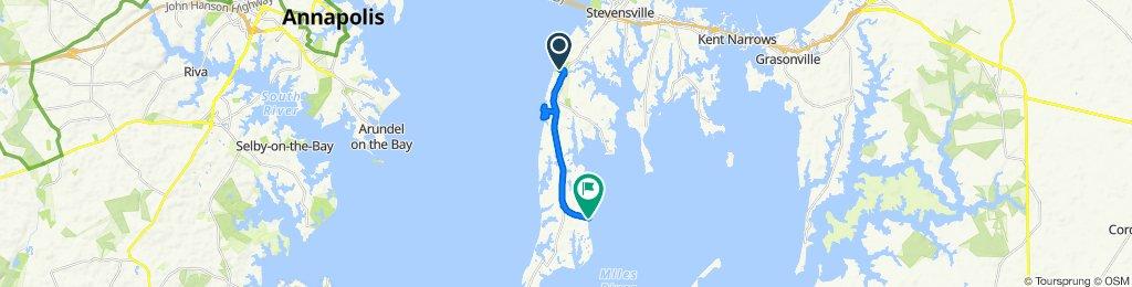 110 Marine Academy Dr, Stevensville to 9700 Romancoke Rd, Stevensville