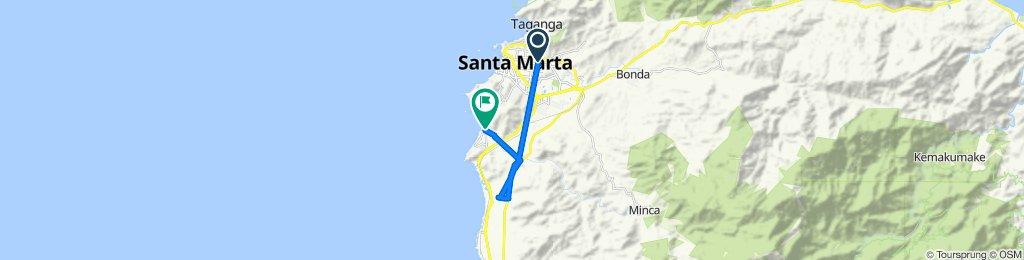 De Calle 11d 2153, Santa Marta a Carrera 4 14-05, Gaira