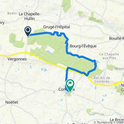 De Route de Vergonnes, La Chapelle-Hullin à 8 Rue Paul Verlaine, Combrée