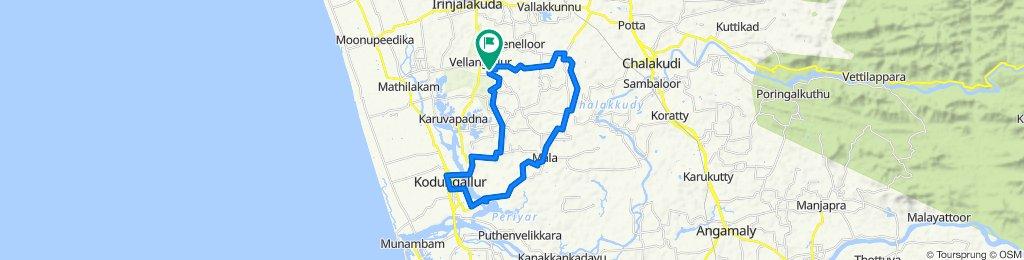 Vellakadu Road, Vadakkumkara to Vellakadu Road, Vadakkumkara