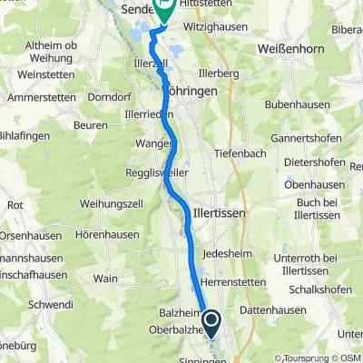Oberbalzheimer Straße, Altenstadt nach Platanenstraße 5, Senden