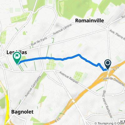 De 12 Boulevard Édouard Branly, Romainville à 13 Rue de Romainville, Les Lilas