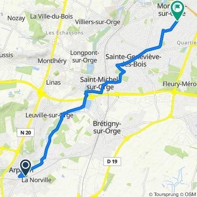 De 31 Boulevard Abel Cornaton, Arpajon à 24 Avenue Roger Salengro, Morsang-sur-Orge