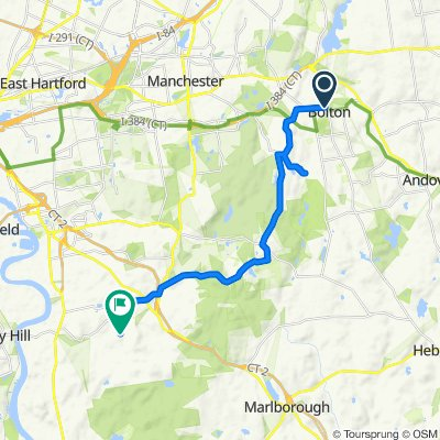 212 Bolton Center Rd, Bolton to 166–232 Woodland St, South Glastonbury
