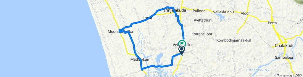 Kodungallur - Shornur Road, Vadakkumkara to Kodungallur - Shornur Road, Vellangallur