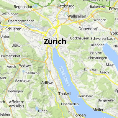 Seidenstrasse 7, Thalwil nach Ahornstrasse 21, Zürich