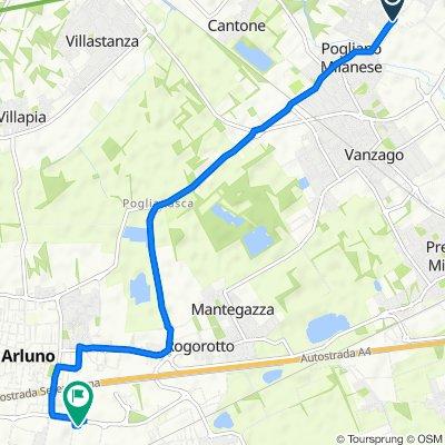 Da Via Europa 25, Pogliano Milanese a Via Vincenzo Bellini 10/14, Arluno
