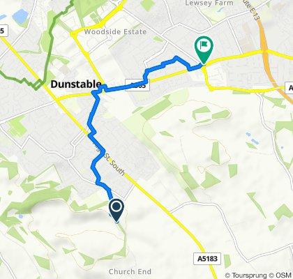 Beech Road, Dunstable to Dunstable Road, Luton