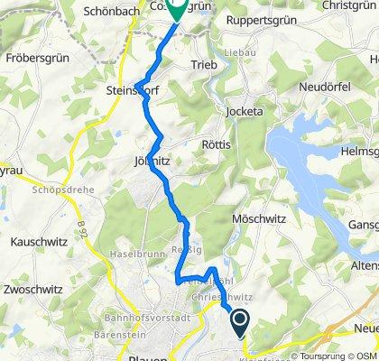 Friesenweg 146, Plauen nach Cossengrün 146, Vogtländisches Oberland
