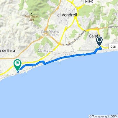 Carretera de l'Estació, Calafell to Carrer de Josep Pla, 21, Roda de Barà