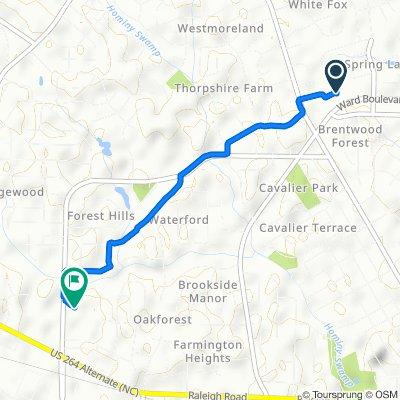 2801 Ward Blvd, Wilson to 1210 Forest Hills Rd NW, Wilson