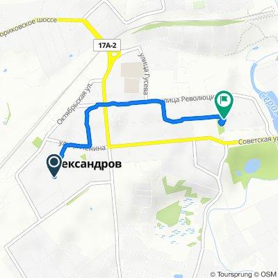 От улица Коссович 7, Александров до Первомайская улица 74, Александров