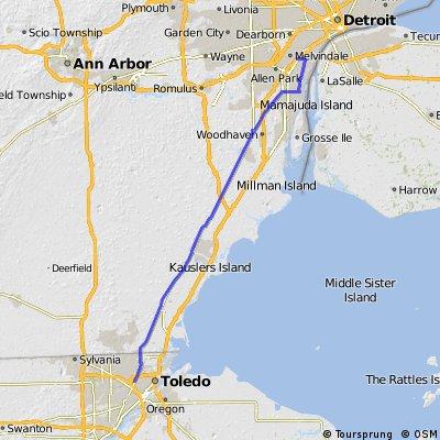 Detroit to Toledo oneway
