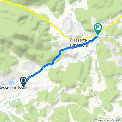 De D13, Besse-sur-Issole à 52 Avenue du Général de Gaulle, Flassans-sur-Issole