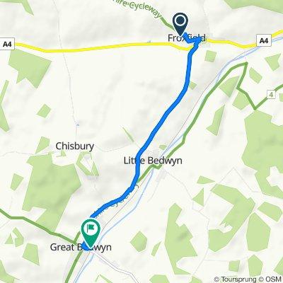 66–98 Church Road, Froxfield, Marlborough to 4 The Knapp, Great Bedwyn, Marlborough