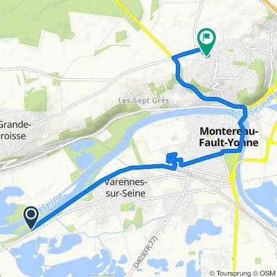 De Rue Grande, Varennes-sur-Seine à Boulevard Voltaire, Montereau-Fault-Yonne