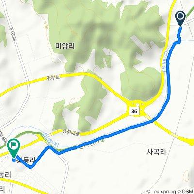 261-2 Hwaseong-ri, Jeungpyeong-gun to 244 Jangdong-ri, Jeungpyeong-gun