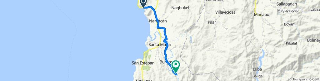 MacArthur Highway, Narvacan to Santa Maria - Burgos Road