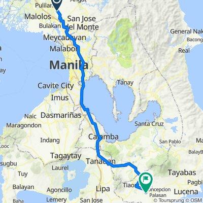 Route to Buenavista East Barangay Road 124, Candelaria