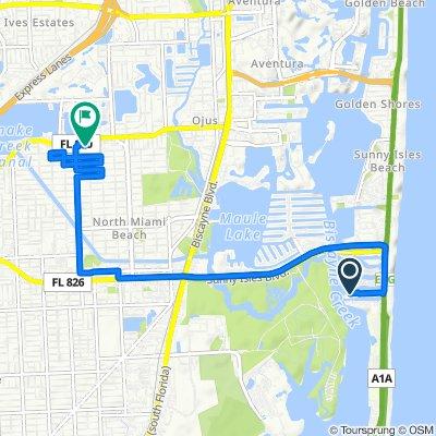 400 159th St, Sunny Isles Beach to 1602 NE 185th St, Miami