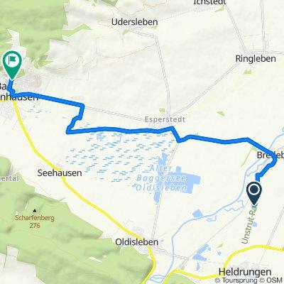 Unstrut-Radweg, Bretleben nach Schwedengasse 6, Bad Frankenhausen/Kyffhäuser