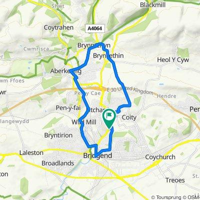 58 Ffordd Cadfan, Bridgend to 58 Ffordd Cadfan, Bridgend