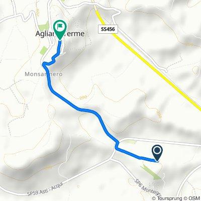 Strada Provinciale 59 25, Agliano nach Via Principe Amedeo 37, Agliano