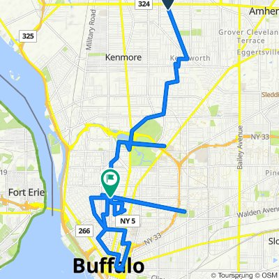 Aspinwood Place 95, Buffalo to Elmwood Avenue 518, Buffalo