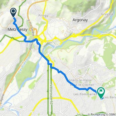 De 41 Route des Machurettes, Metz-Tessy à 11–13 Rue du Printemps, Annecy-le-Vieux