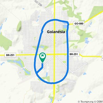 De Rua Doze, 531–591, Goianésia a Rua Doze, 531–591, Goianésia