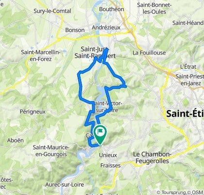 Itinéraire à partir de Avenue Roger Salengro 42, Unieux
