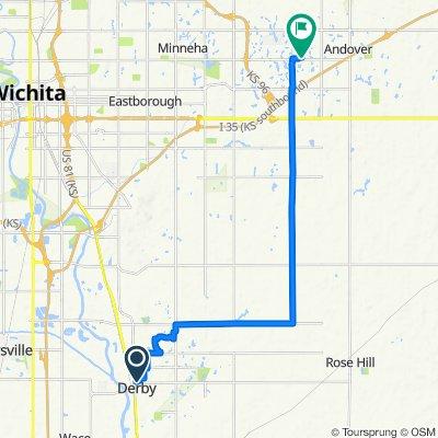 620 N Georgie Ave, Derby to 14801–14849 E Sport of Kings Ct, Wichita