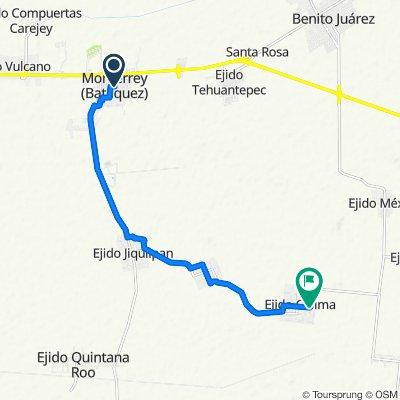 De Avenida Asalto a las Tierras, Batáquez a Unnamed Road, El Tecolote