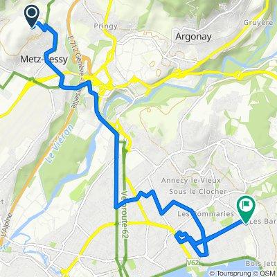 De 54 Route des Machurettes, Metz-Tessy à 17 Rue du Printemps, Annecy-le-Vieux