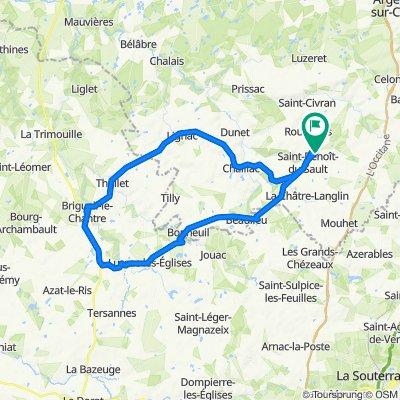 De 64 Route d'Argenton, Saint-Benoît-du-Sault à 64 Route d'Argenton, Saint-Benoît-du-Sault