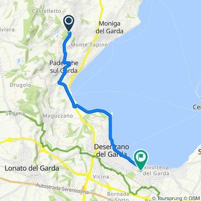 Via Paolo ed Enrico Avanzi 11–17, Soiano del Lago nach Via Dugazze 9/A, Desenzano del Garda