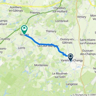 De 27 Rue du Moulinet, Varennes-Changy à 7 Rue des Genièvres, Noyers