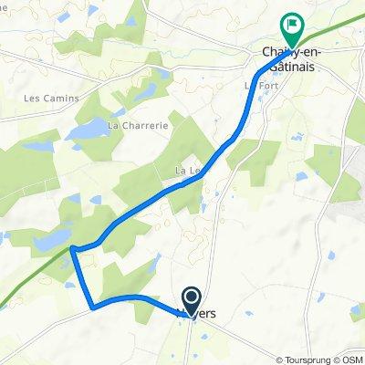 De 5 Rue des Genièvres, Noyers à Route de Bellegarde, Chailly-en-Gâtinais