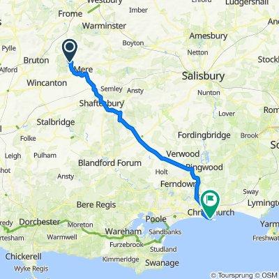 Stourhead to Bournemouth