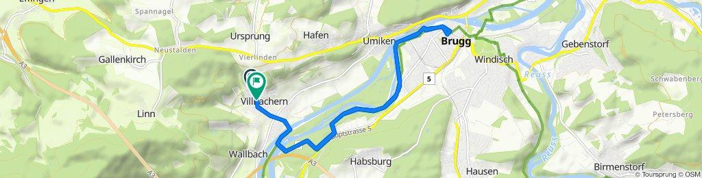 Bahnhofstrasse 13, Villnachern nach Schynhaldenstrasse 1–1A, Villnachern