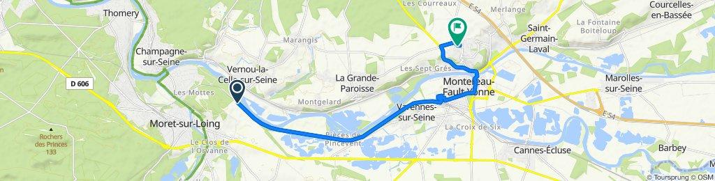 De Rue Mariotte, Ecuelles à 8bis Sente de la Maison Garnier, Montereau-Fault-Yonne