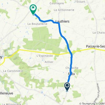 Itinéraire à partir de D83, Leignes-sur-Fontaine