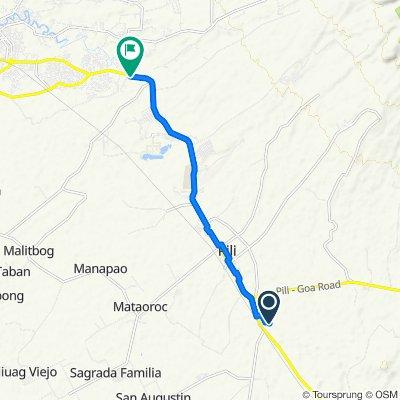 Sampaguita Street, Pili to Pan-Philippine Highway, Pili