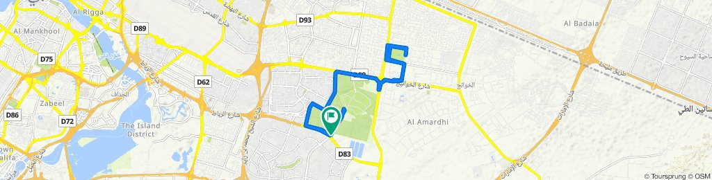 От شارع نواكشوط, Дубай до شارع نواكشوط, Дубай