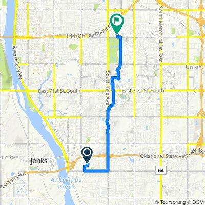 9808 S Louisville Ave, Tulsa to 5002 S Fulton Ave, Tulsa