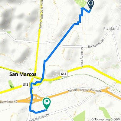 1130 Elm Tree Ln, San Marcos to 221–299 N City Dr, San Marcos